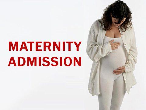 Maternity admission